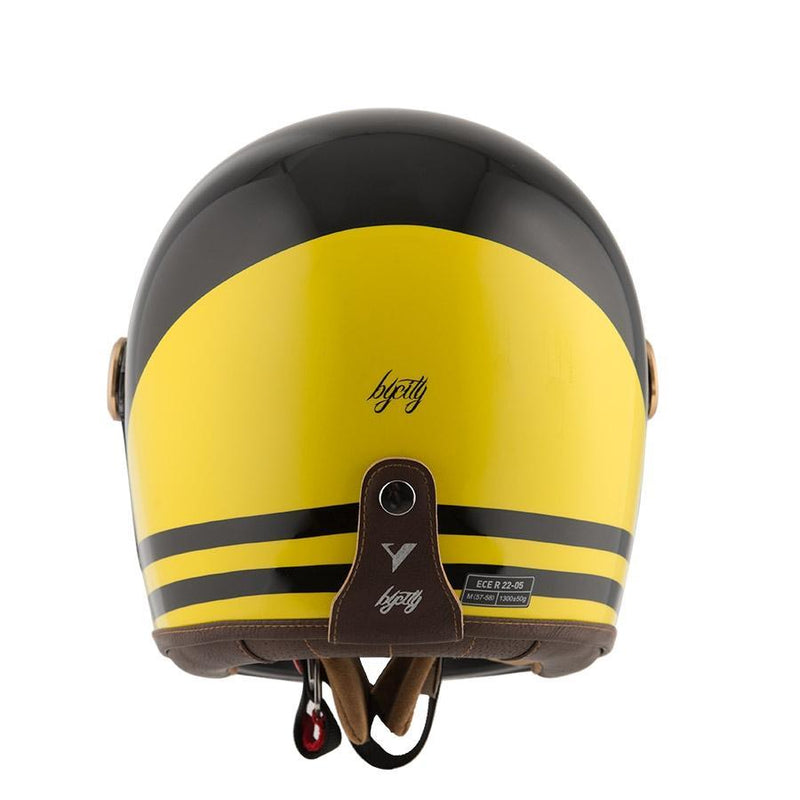 By City - By City Roadster Black Yellow Full Face Helmet - Helmets - Salt Flats Clothing
