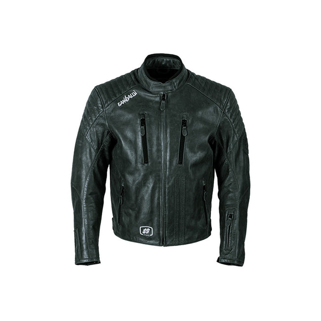 Garibaldi Bullrider Vintage Leather Mens Motorcycle Jacket