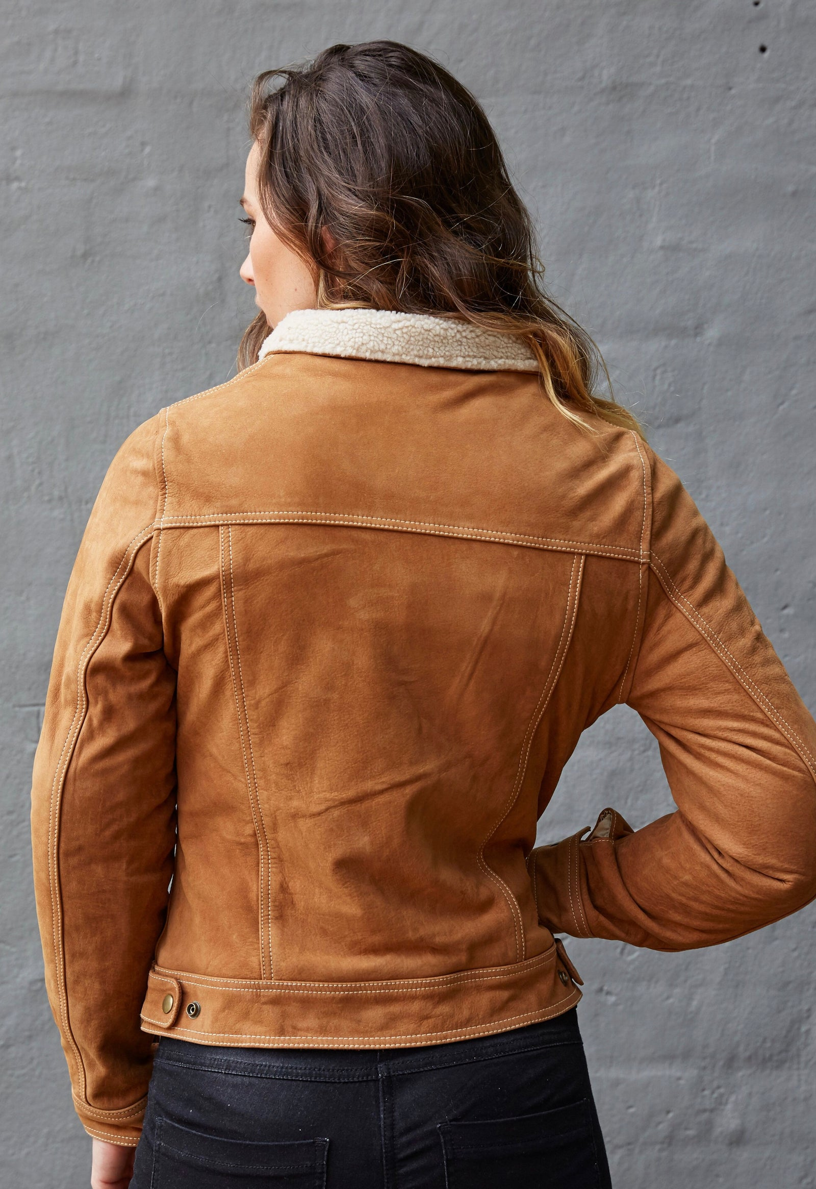 Blackbird Ladies Dakota Nubuck Leather Motorcycle Jacket