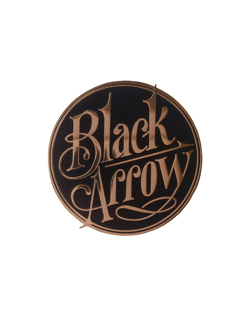 Black Arrow BA Logo Pin