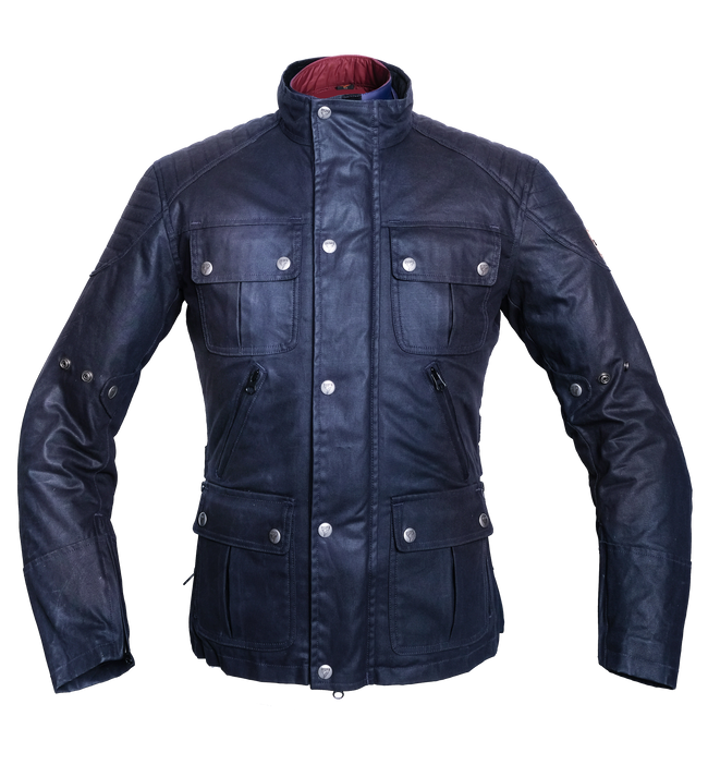 By City Men's London Waxed Cotton Motorcycle Jacket