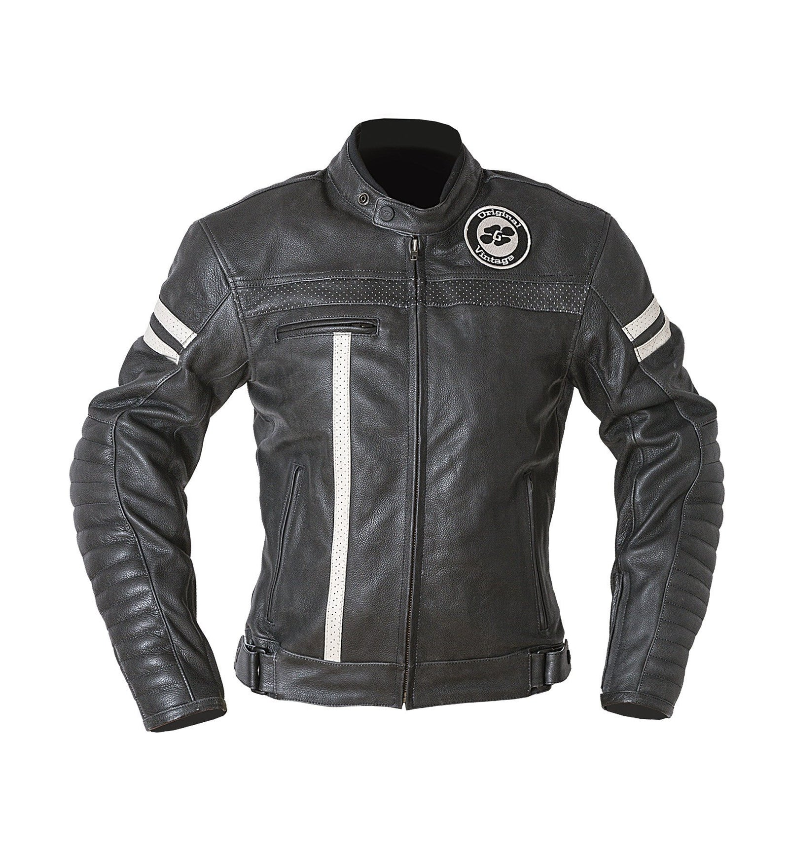 Garibaldi Ladies Vintage Moka Racer Leather Motorcycle Jacket