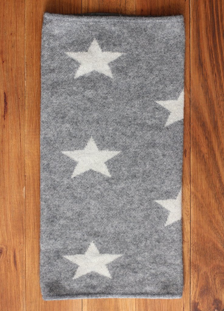 Black Arrow Star Cashmere Neck Warmer Tube Bandana