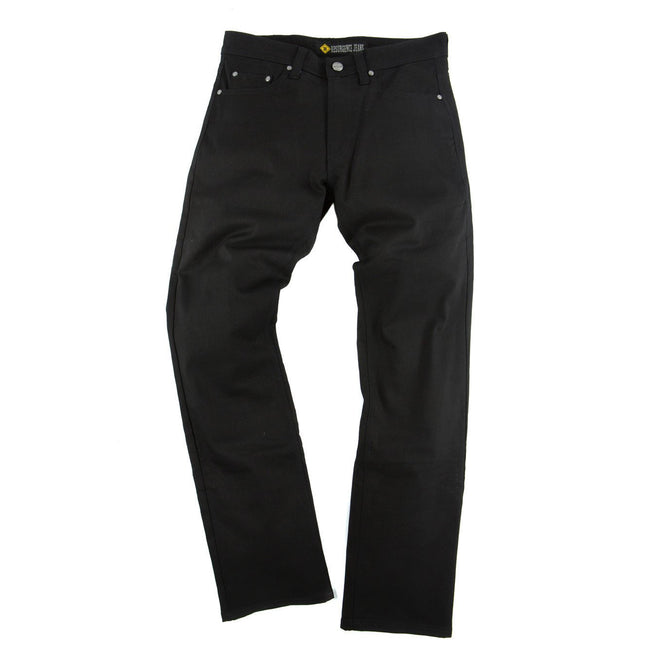 Resurgence Gear Mens Heritage in Jet Black PEKEV motorbike jeans, safer alternative to Kevlar jeans