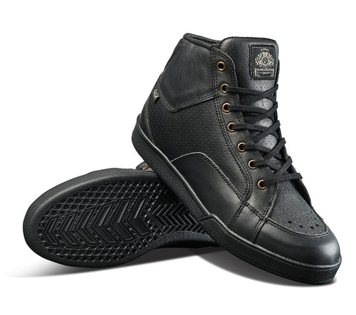 Roland Sands Design - Roland Sands Design Fresno Perforated Black Riding boots - Boots - Salt Flats Clothing