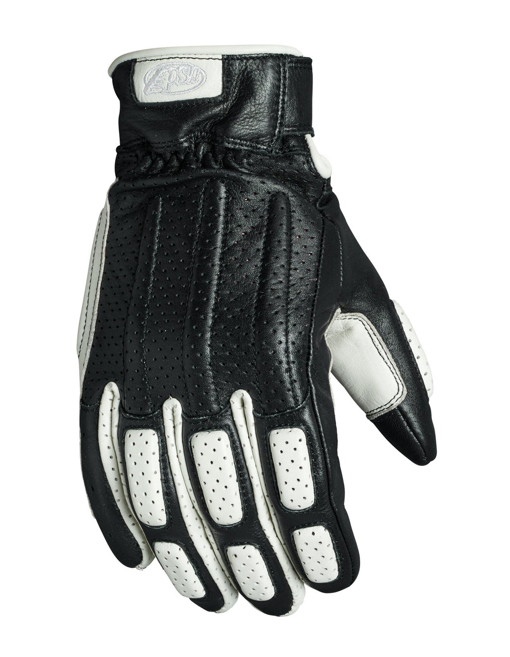 Roland Sands Design - Roland Sands Design Rourke Gloves - Black and White - Gloves - Salt Flats Clothing