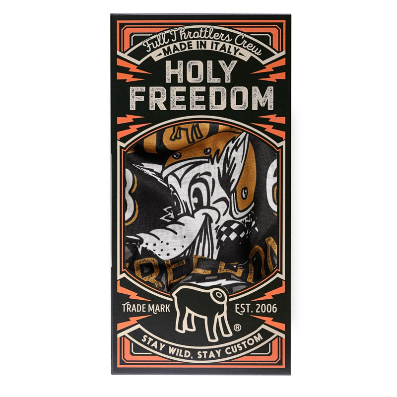 Holy Freedom Golden Wolf Pile Bandana Tube Pack