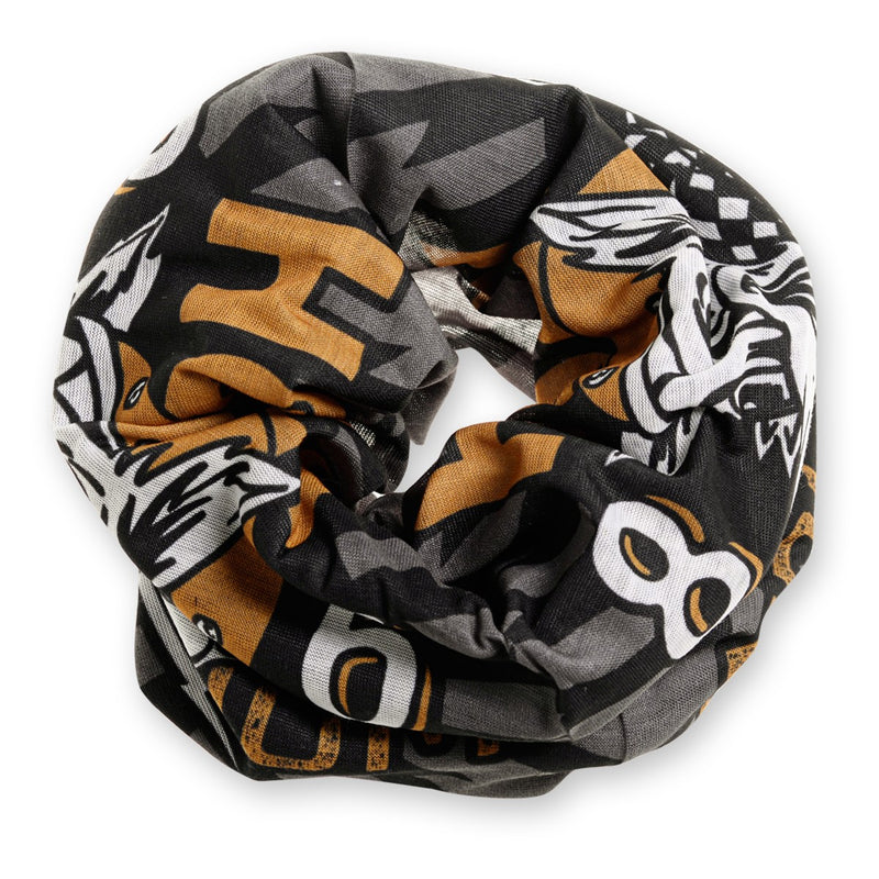 Holy Freedom Golden Wolf Pile Bandana Tube Round