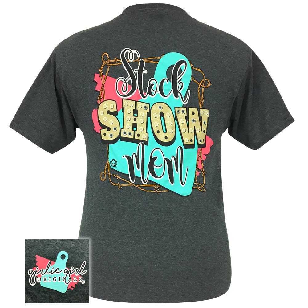 Stock Show Mom Black Heather-2049 Short Sleeve