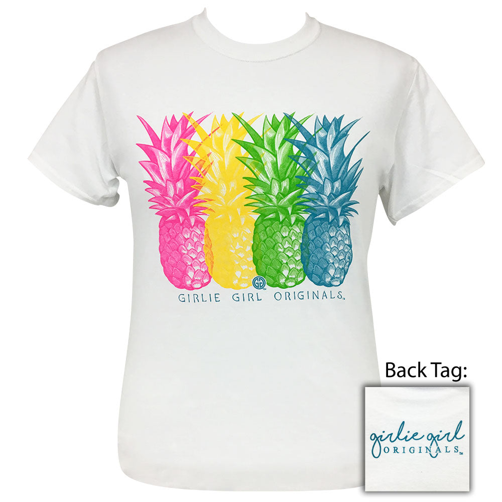Vivid Pineapples White - 2006 Short Sleeve
