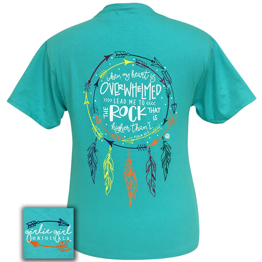 Psalm 61:2 Scuba Blue Short Sleeve