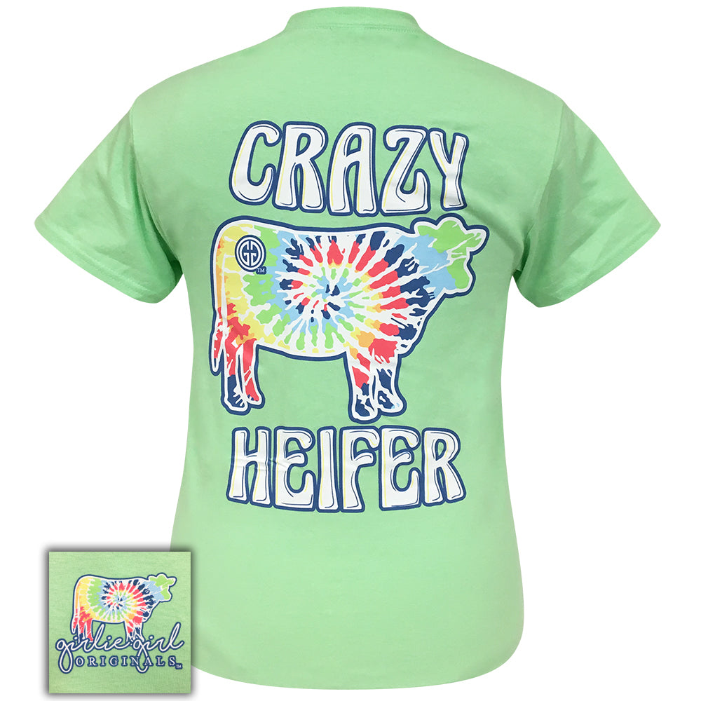 Tie Dye Crazy Heifer Mint-2045 Short Sleeve