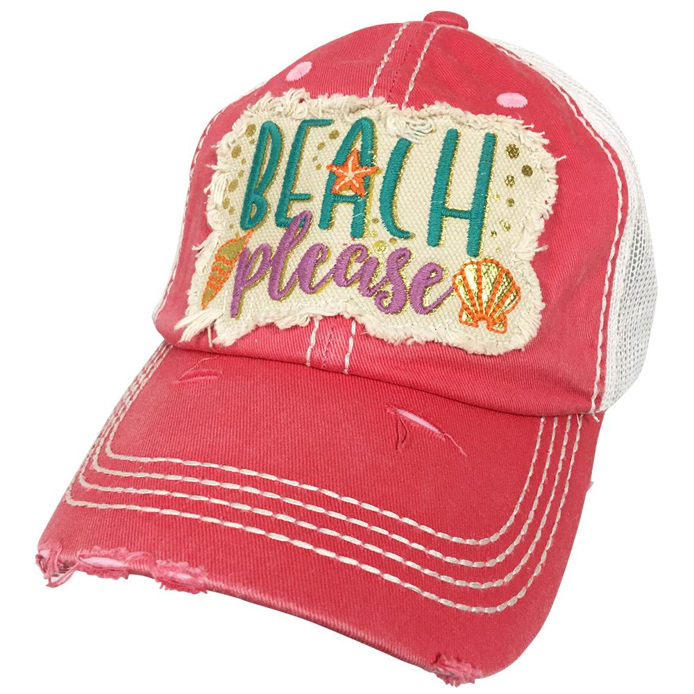 KBV-1204 Beach Please Cap Hot Pink