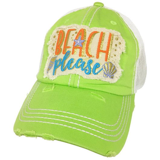 KBV-1204 Beach Please Cap Lime