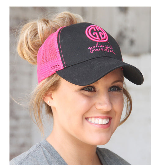 BJ-1 Pony Caps Logo Black Pink