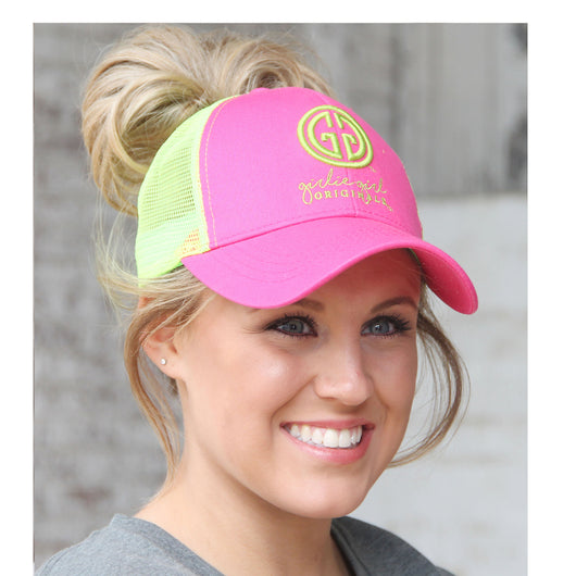 BJ-1 Pony Caps Logo Pink Green