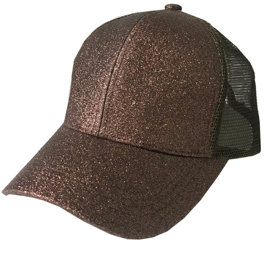 BT-6 METALLIC PONY CAP BROWN