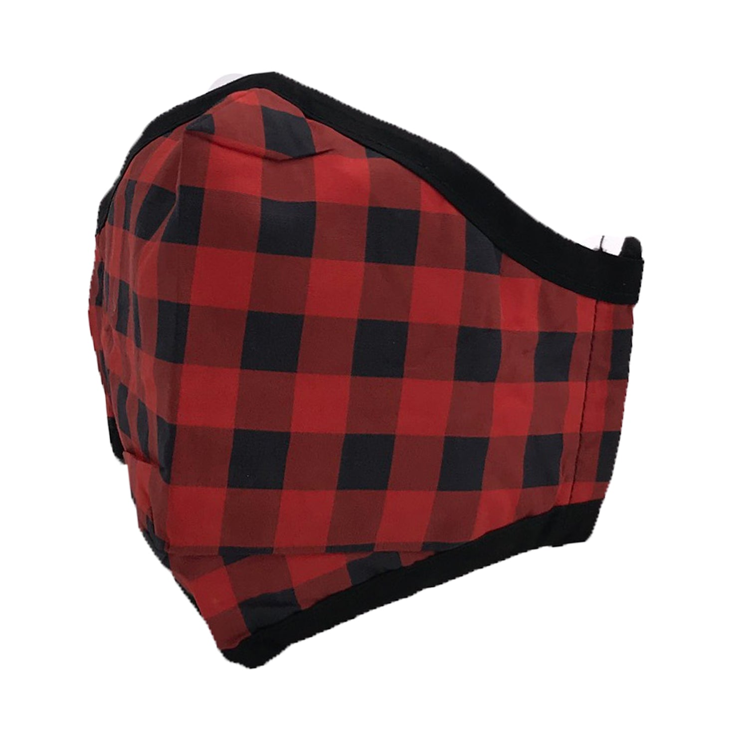 ADULT MASK BUFFALO PLAID RED