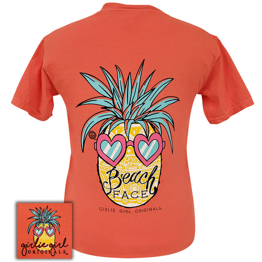 Beach Face Bright Salmon Comfort Color - 2008 Short Sleeve