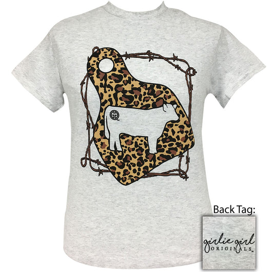 Leopard Cow Tag Ash-2044 Short Sleeve