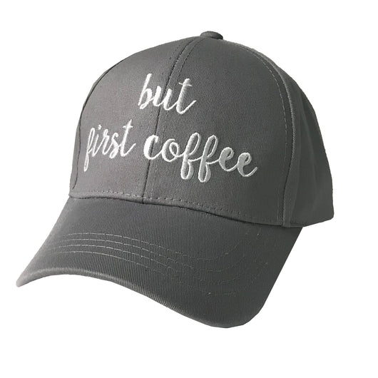 BA-2017 C.C But First Coffee Grey Cap