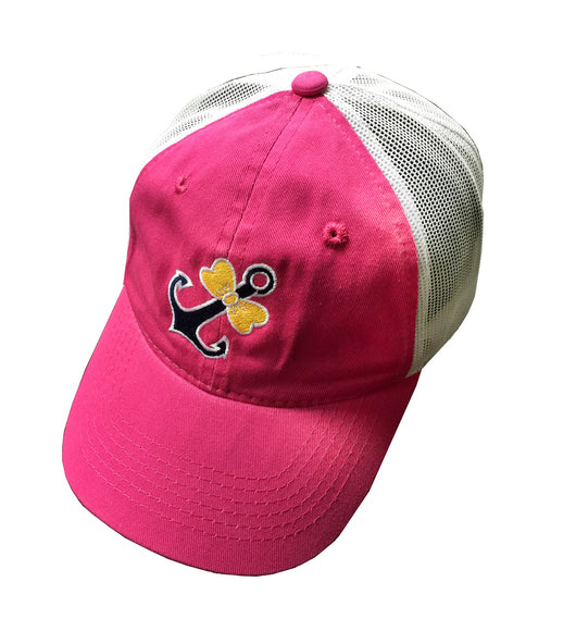 CAP-BOWTIE ANCHOR HOT PINK