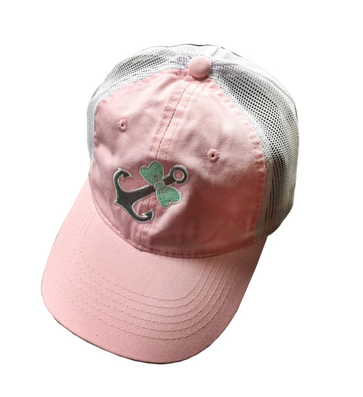 CAP-LIGHT PINK WITH MINT BOWTIE ANCHOR