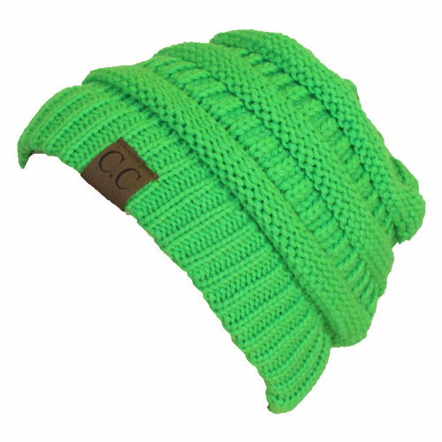 HAT-20A BEANIE NEON LIME GREEN