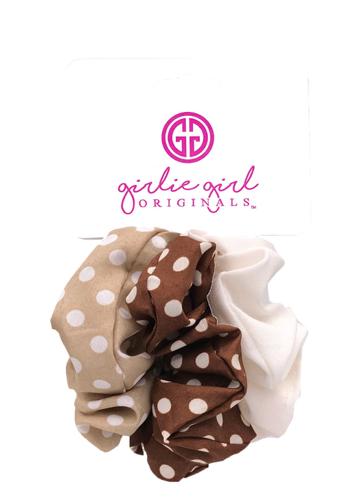 SCR-11-DOT Assorted Scrunchies