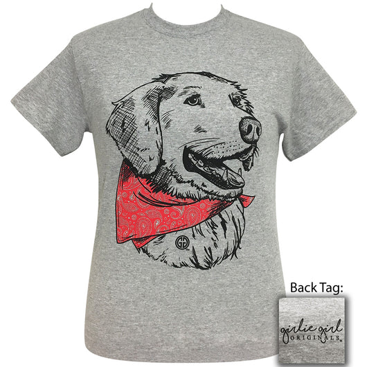 Paisley Bandana Retriever Sport Grey Short Sleeve Tee