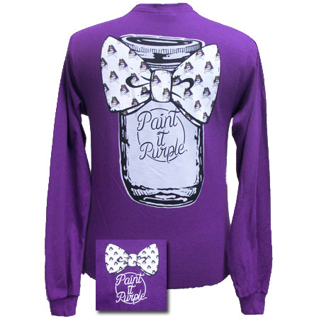 ECU Mason Jar - Purple (Long Sleeve)