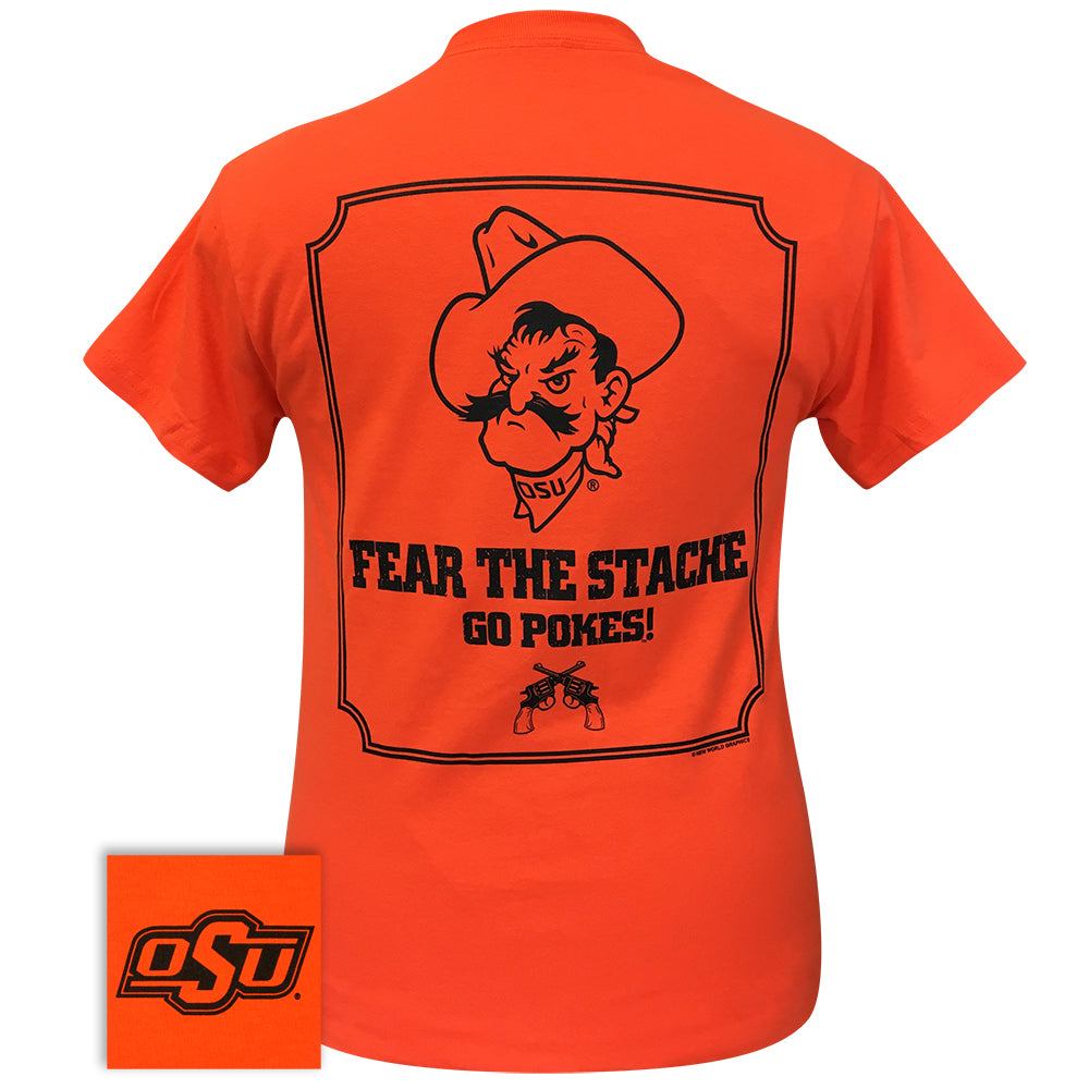 Fear the Stache OSU - 053 Orange Short Sleeve