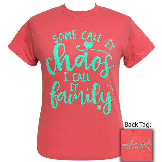 Family Coral Silk Short Sleeve