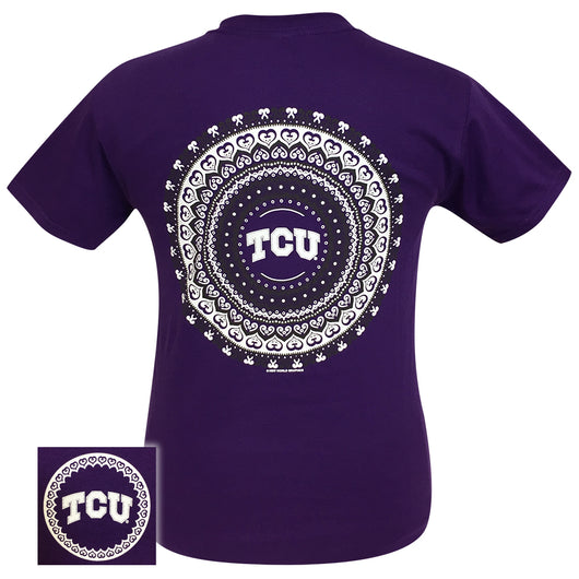 TCU Mandala Purple Short Sleeve