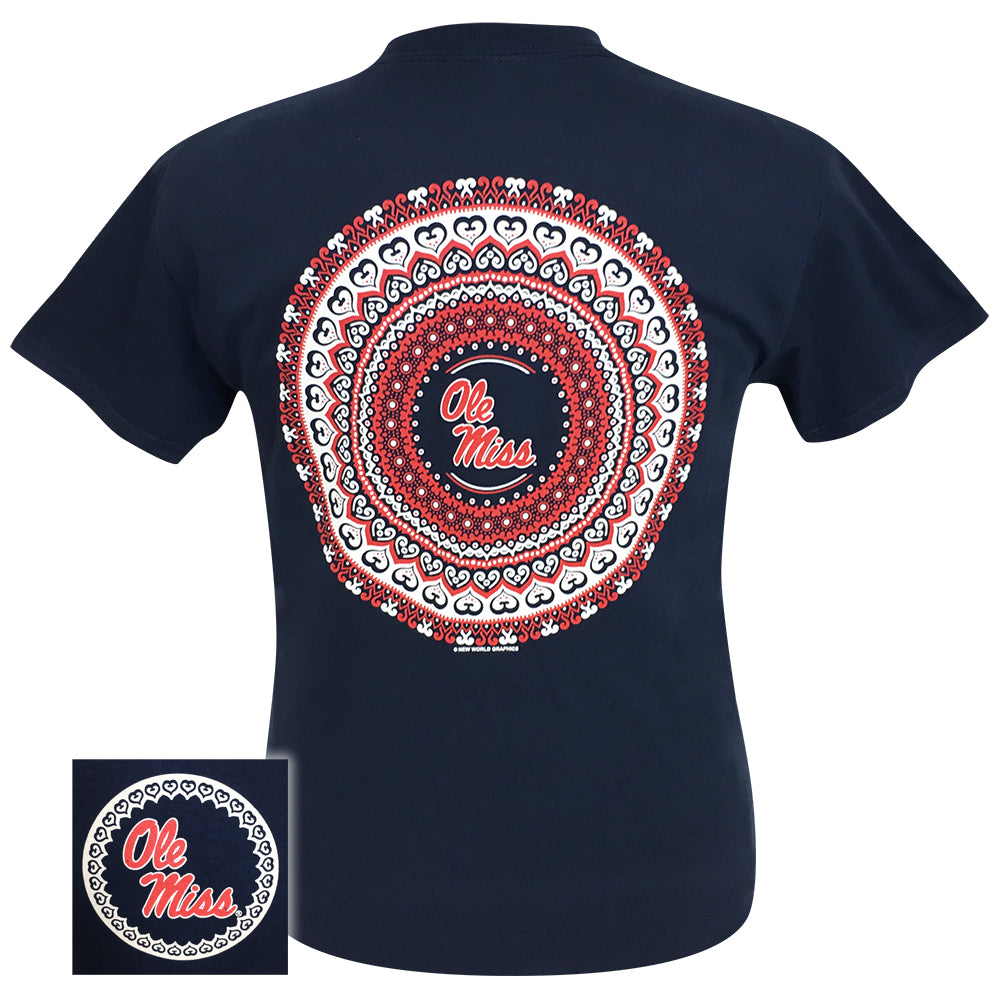 Ole Miss Mandala Navy Short Sleeve
