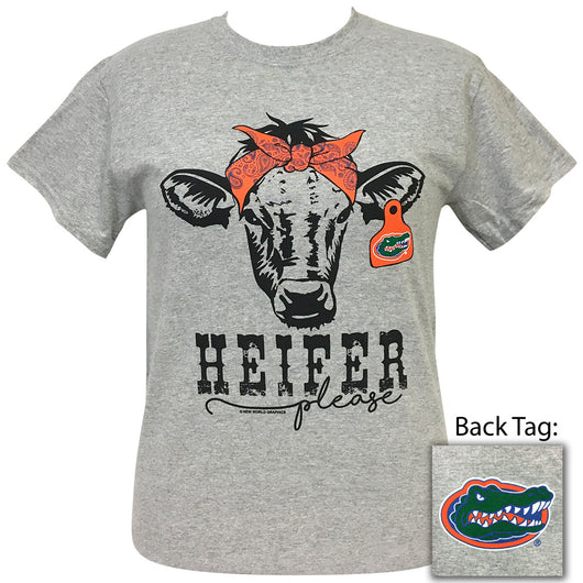 Heifer Please Florida Sports Grey Short Sleeve