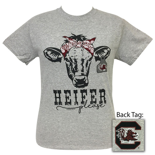Heifer Please South Carolina Sports Grey Short Sleeve