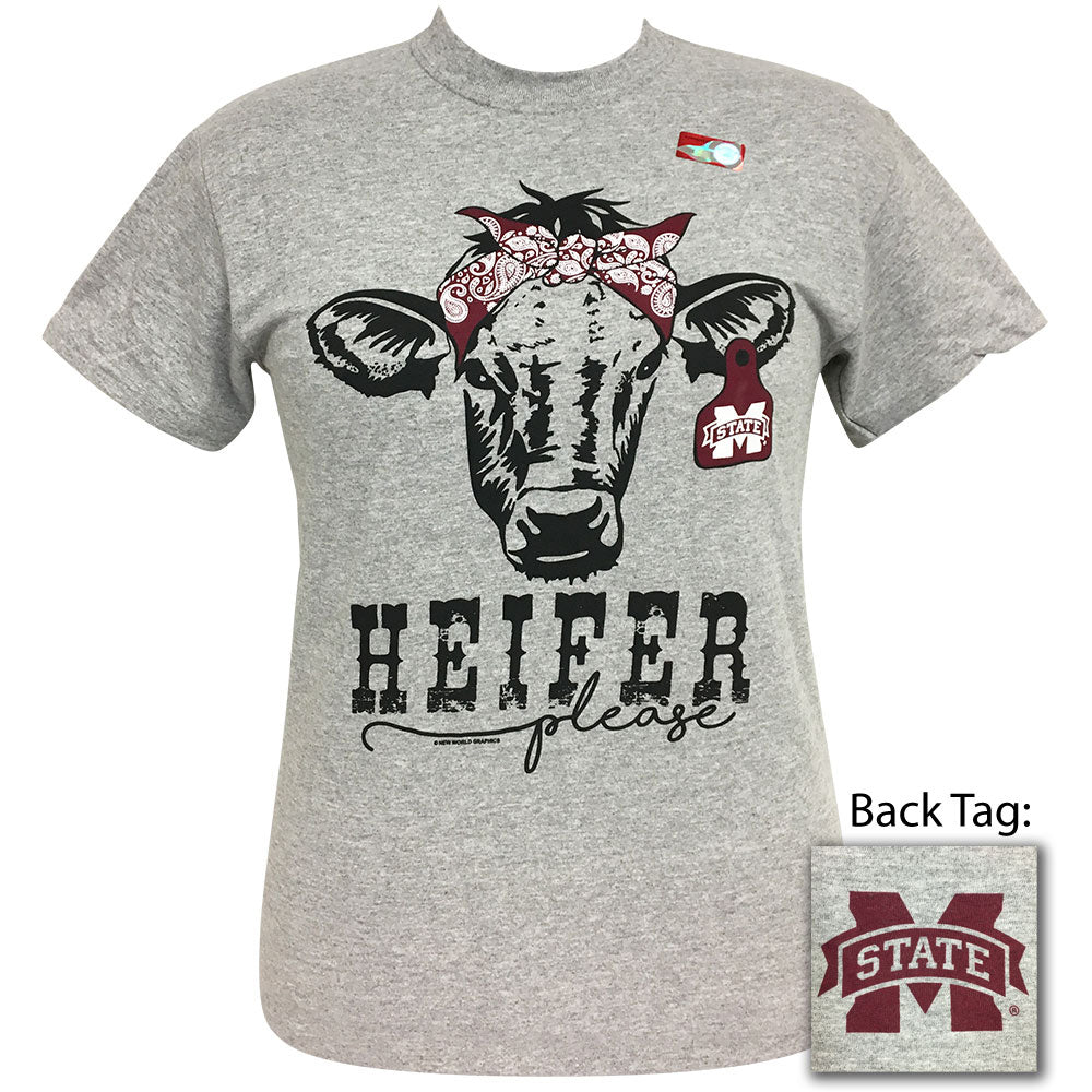 Heifer Please MSU Sports Grey Short Sleeve