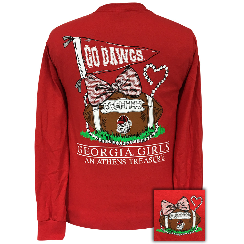 Georgia Treasure Red Long Sleeve