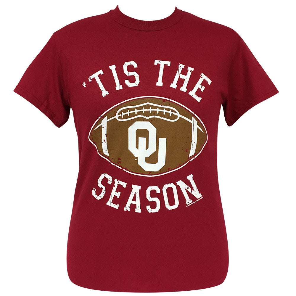 Tis The Season OU Cardinal Short Sleeve