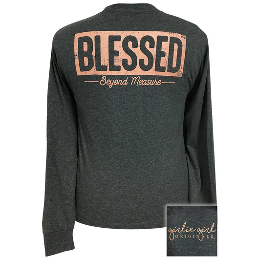Blessed Black Heather Long Sleeve