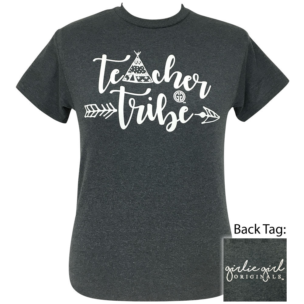 Teacher Tribe Dark Heather Short Sleeve