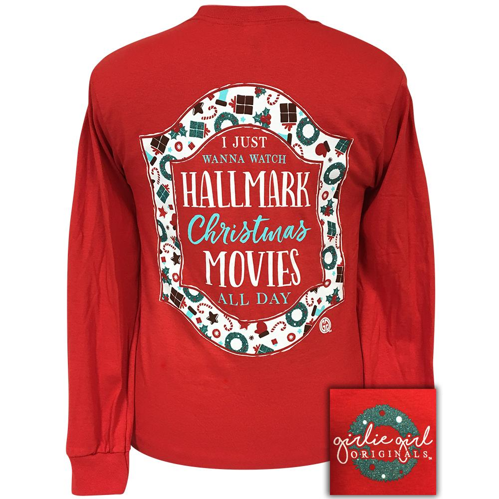 Hallmark Movies Long Sleeve Red