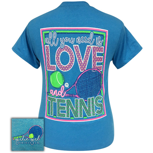All You Need Tennis Heather Sapphire Short Sleeve