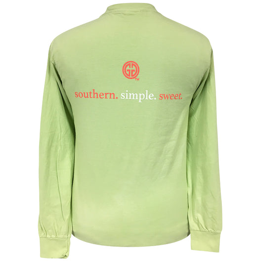 Southern Simple-Comfort Color Coral/Celadon Long Sleeve