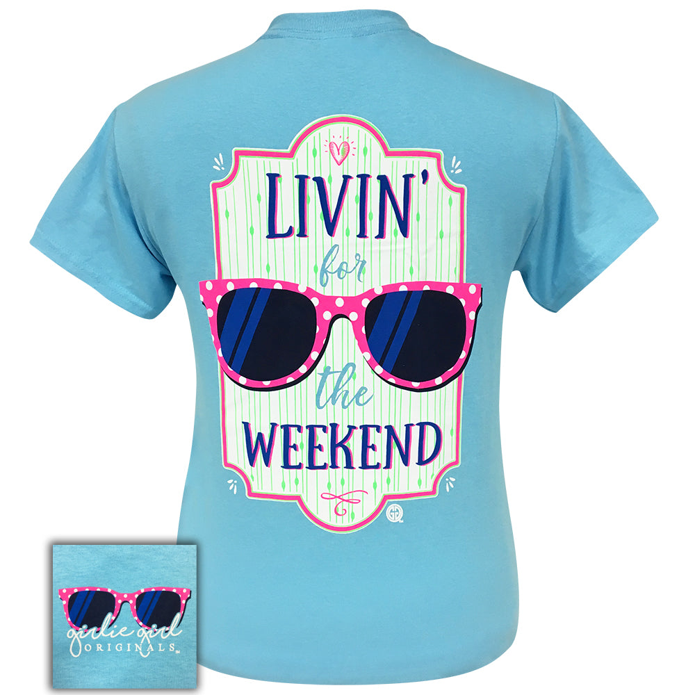 Livin for the Weekend Sky Blue- 2063 Short Sleeve
