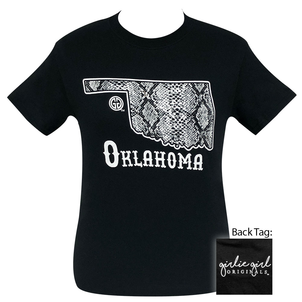 Oklahoma Snake Skin Black-2090 Short Sleeve
