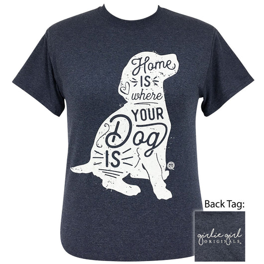 Where Your Dog Is-Heather Navy SS-2121