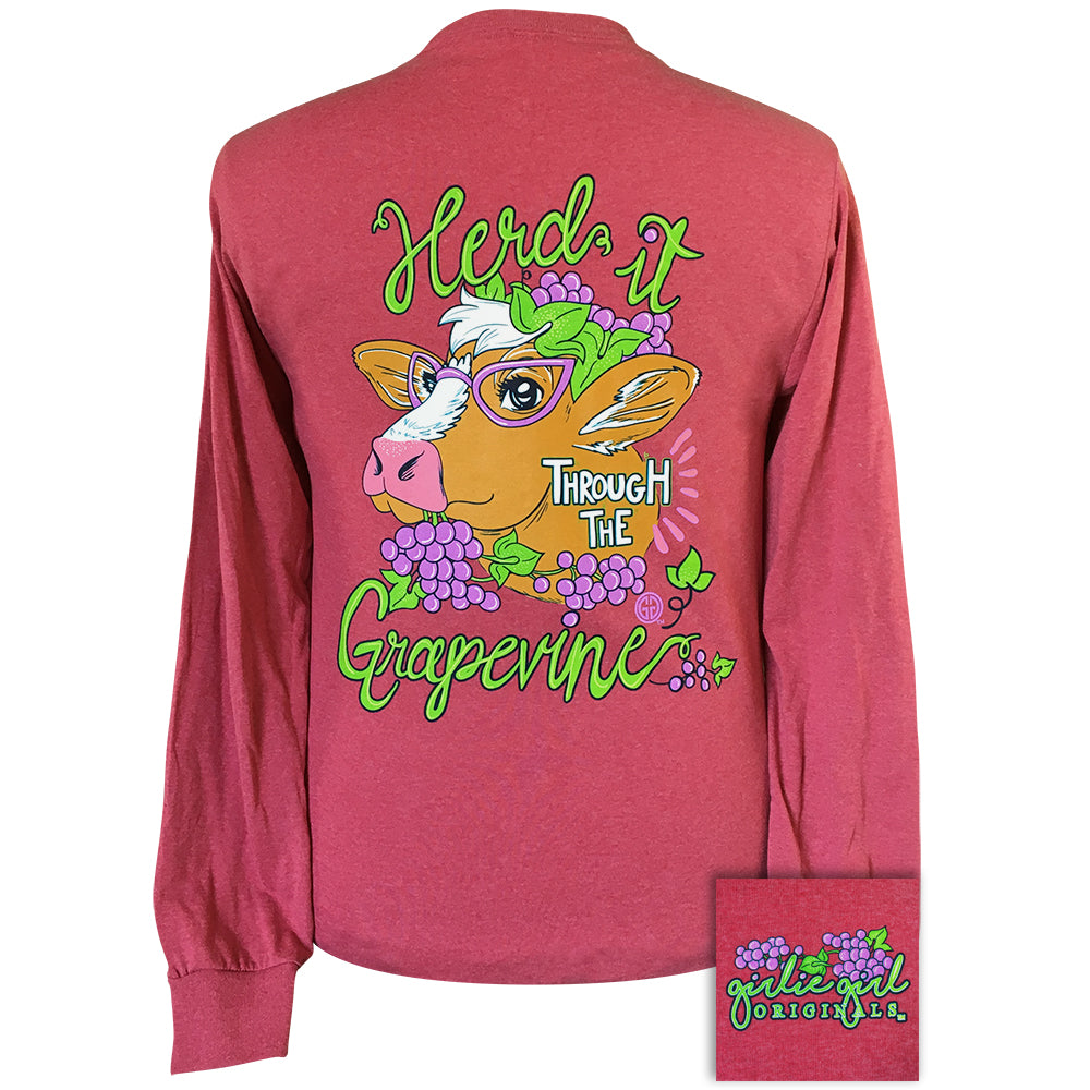 Grapevine-Vintage Heather Red LS-2136