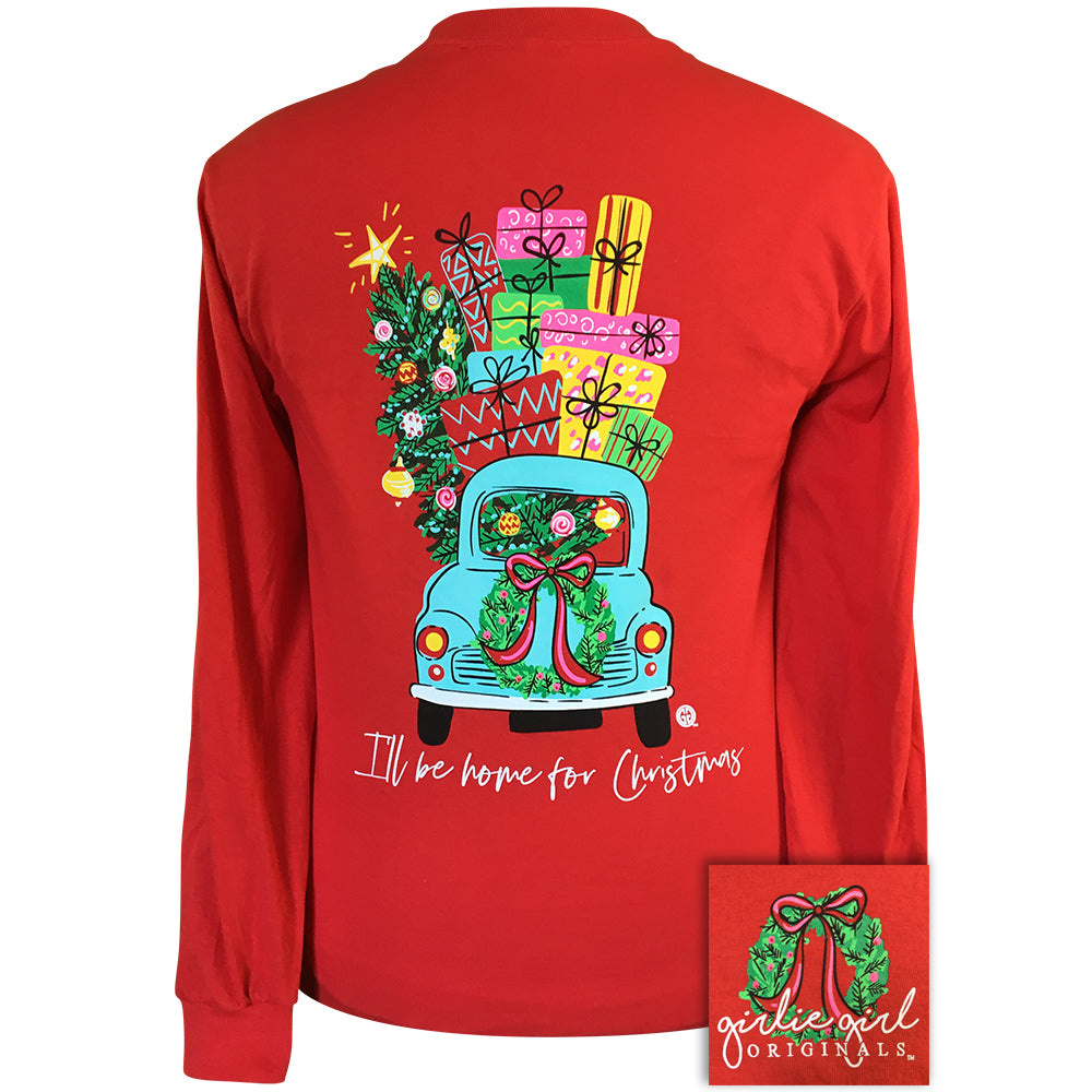 Christmas Car Red-2146 Long Sleeve